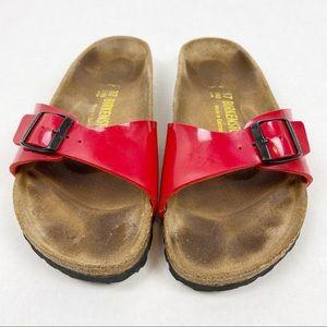 Birkenstock • Madrid Birko-Flor Red Patent Sandal